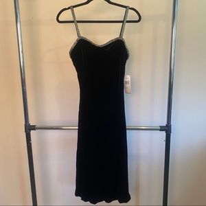 Ralph Lauren NWT Black Velvet Beaded Dress